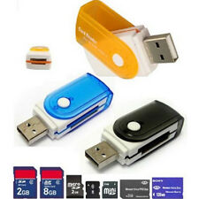 2PC All in 1 USB Stick Memory Card Reader Adapter Adaptor for M2 SD SDHC TF Card