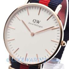 NEW DANIEL WELLINGTON Classic Oxford Womens Watch White Dial Blue/Red 0501DW