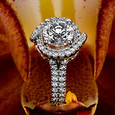 1 CT D VS2 Round Cut Diamond Solitaire Engagement Ring 14k White Gold