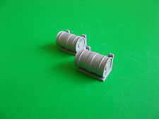 Pair of Depth Charges on Stands, in 1/24th scale. Model Boat Fittings.