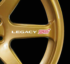 Subaru Legacy WRX STI 8 x logo decal graphics stickers for alloy wheels white