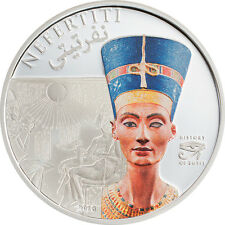 Cook 2013 Egypt Queen Nefertiti 5 Dollars Colour Silver Coin,Proof