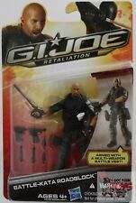 "GI JOE BATTLE KATA ROADBLOCK Hasbro Retaliation 2012 3.75"" Inch ACTION FIGURE"