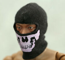 "Skull Face Mask Black For 12"" Action Figure 1:6 Model 1/6 Scale Toys NANU"