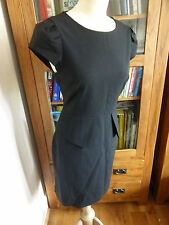 J. Crew noir peplum smart office work dress us 6 uk 10 12 très bon état