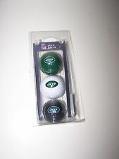 NFL golf ball set of 3 ball New York JETS GREEN white black official NFL set NIP