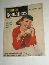 Vintage INTIMATE ROMANCES Vol 3 #12 March 1951