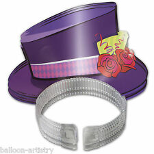 4 Cuentos Sombrerero Loco Children's Tea Party Top Hat Tiaras Diademas