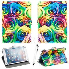 "Flower Pattern PU Leather Case Cover Universal For Android iOS Tablet PC 7""-7.9"""