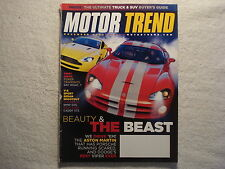 Motor Trend 2005 November Aston Martin Viper Jeep Explorer TrailBlazer SS Dodge