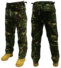 "40"" INCH WOODLAND CAMOUFLAGE ARMY MILITARY CARGO COMBAT TROUSERS PANTS"