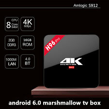 H96 PRO TV Box Amlogic S912 Eight Core 2/16G Update Double Wifi Android6.0
