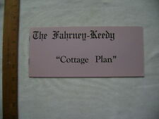 1950's Fahrney-Keedy Retirement Home Cottage Plan Brochure, Boonsboro, MD