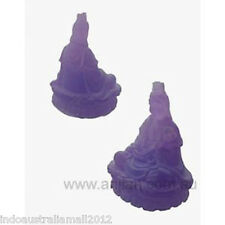 1 x Beautiful Decorative Quan Yin Statue  Frosted Purple 62 mm ( QY006P)