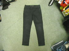 """Next Skinny Sexy High Waist Jeans Size 8P Leg 27"""" Black Faded Ladies Jeans"""