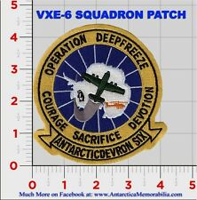 VXE-6 Squadron Patch, Operation Deep Freeze, Antarctica, McMurdo, South Pole