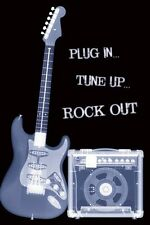 GUITAR POSTER RÖNTGENBILD X-RAY PLUG IN TUNE UP ROCK OUT