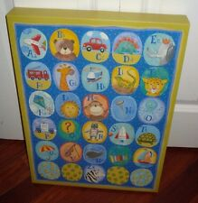 Alphabet Wall Art Nursery Box Frame 14.5 x 20 Looks Like Canvas Painting Picture