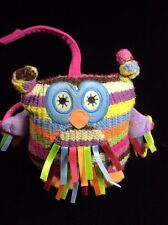 """Jellycat Jelly Kitten Hoot The Owl Striped Plush Soft Toy Rattle 6"""" Baby Lovey"""
