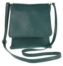New Genuine Soft Leather Italian Cross Body Shoulder Bag Flap Zipped Messenger