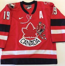 Special Yzerman Autographed Team Canada Jersey From Salt Lake Olympics