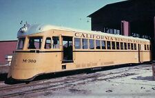 California Western Gasoline-Powered Railcar #M-300 --- Railroad Train Postcard