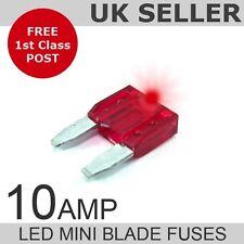 LED 10A Amp Fusibles Hoja Mini Cantidad 10