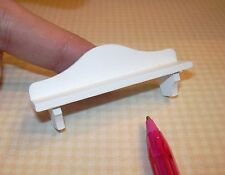 Miniature Simple Rustic WHITE Wall Shelf: DOLLHOUSE 1/12 Scale