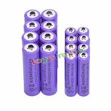 8 AA 3000mAh + 8 AAA 1800mAh Ni-Mh Rechargeable Battery Cell for MP3 RC Toy