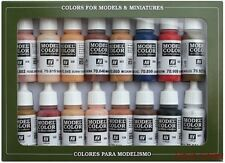 Vallejo Acrylics AV Vallejo Model Color Set Face Skin Colours Skintone 16 x 17ml