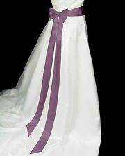 "3"" x 120"" EASY SATIN SASH & BOW Wedding/Bridesmaid/Prom/Party/Fancy Dress Belt"