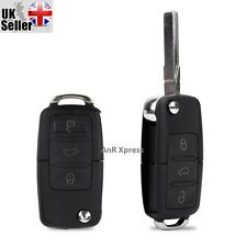 3 Button Remote Flip Key Fob Case for VW Volkswagen Golf Bora Jetta Passat Polo