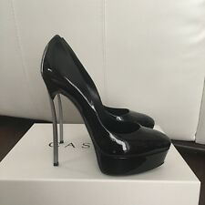 Authentic Casadei Black Patent Leather Pumps Size 38/39