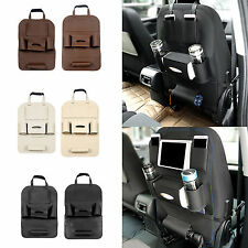 Car Seat Back Storage Bags Leather Tidy Organizer Pocket iPone Umbrella Holder