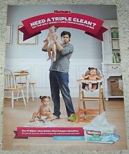 2013 print ad - Huggies cute little diaper baby girl triplets magazine page AD