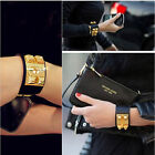 New Vintage Women Punk Stud Pyramid Metal Leather Wristband Bangle Bracelet Cuff