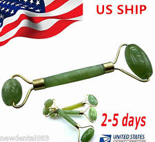 US Face Body SPA Massage Roller Massager Jade Stone Anti-aging Cold Therapy US