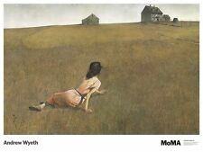 ART PRINT POSTER - Christina's World by Andrew Wyeth 27x36 Girl in Field