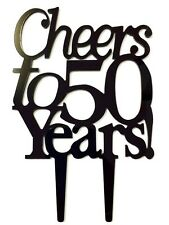Cheers to 50 Years Birthday 50th Anniversary Cake Topper Party Decoration Sign