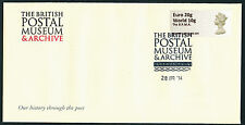 FDC BPMA NO POSTAGE DUE MACHIN NEW WW to 10g/EUR TO 20g 28 APR B4GB14 POST & GO