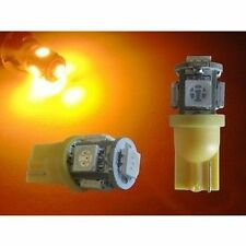 2 X T10 W5W Oraonge Amber LED Turn Parkers Side Wedge Bulb Indicator Parkers