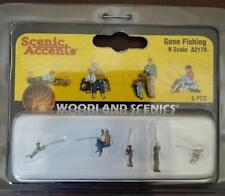 Gone Fishing N Scale Woodland Scenics figures people #2179 Model Trains