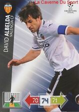 U121 DAVID ALBELDA VALENCIA CF  CARD CHAMPIONS LEAGUE ADRENALYN 2013 PANINI