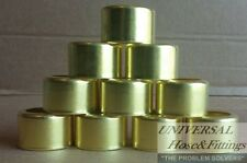 """BRASS FERRULES 10 PACK FOR 3/8"""" 200 PSI AIR HOSE 7329"""