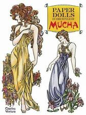 Paper Dolls in the Style of Mucha by Charles Ventura (1990, Paperback) 16 Pages