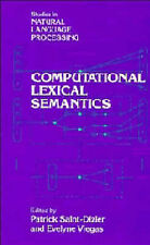 Computational Lexical Semantics (Studies in Natu, , New