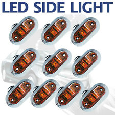 10X 12V Amber SUPERFLUX LED MARKER ABS CLEARANCE LIGHT Truck Boat Trailer Base