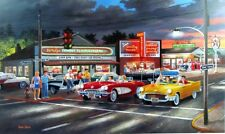 "Anticipation By Ken Zylla Corvette Thunderbird 57 Chev Print SN   30"" x 18"""
