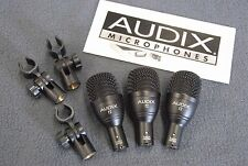 3 Audix F2 Dynamic Drum Microphones Tom/Snare With Clips