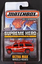 2015 Matchbox Supreme Hero 2000 Chevy® Suburban™ RED/WILTON FIRE MARSHAL/MOC